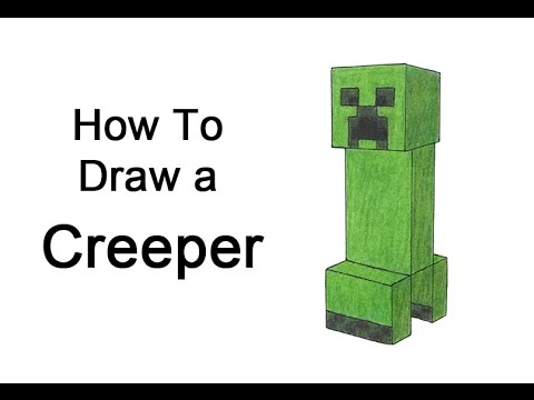 How To Draw A Creeper From Minecraft Youtube