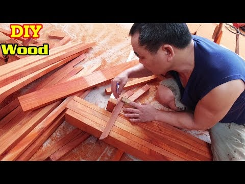 How To Punch Wood Panels And Join Wooden Sticks   Woodworking Tools