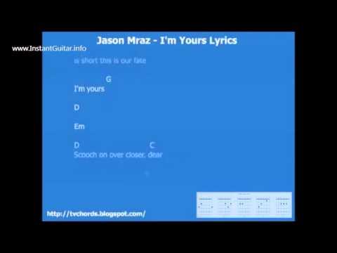 Jason Mraz Im yours Guitar chords and lyrics - YouTube