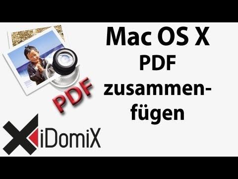 Mac OS X PDF zusammenfügen
