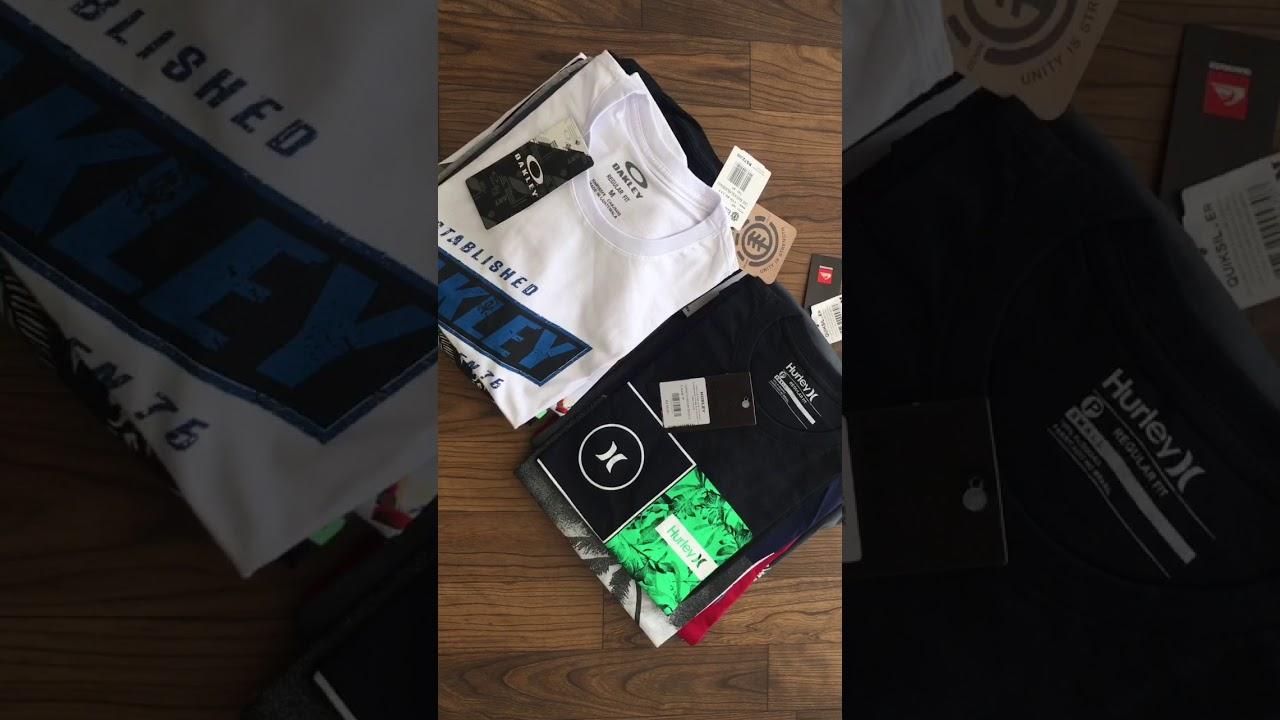 Camisetas Surf Atacado Hurley Quiksilver Oakley - YouTube 2a1b9c27ce