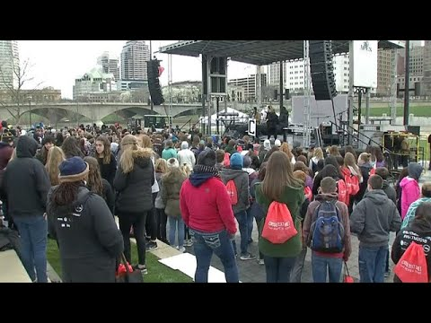 Central Ohio students come together for 'We are the Majority' rally