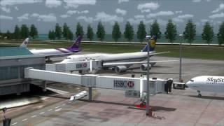 Pretty Lufthansa Retro 747-8i parking at Phuket Airport [FSX]