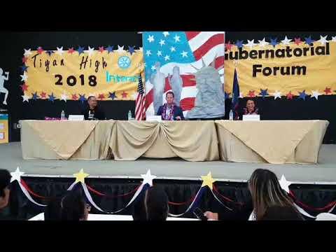 Tiyan High hosts gubernatorial forum