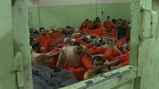 صور من سجن لمعتقلي تنظيم الدولة الإسلامية في سوريا