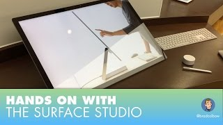 Hands on the Surface Studio and talking about pen jitters