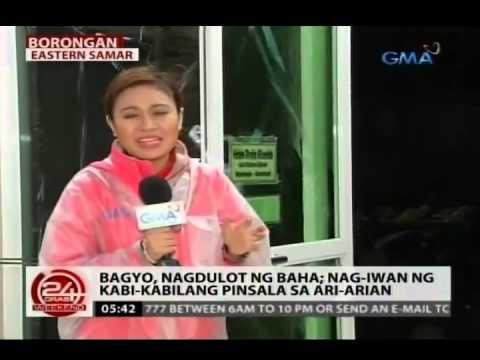 24 Oras: Bagyong Ruby, nanalasa sa Borongan, Eastern Samar