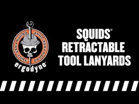 Squids retractable tool lanyards