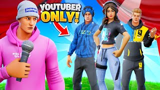 I joined a Fortnite Youtuber Skins *ONLY* Fashion Show!