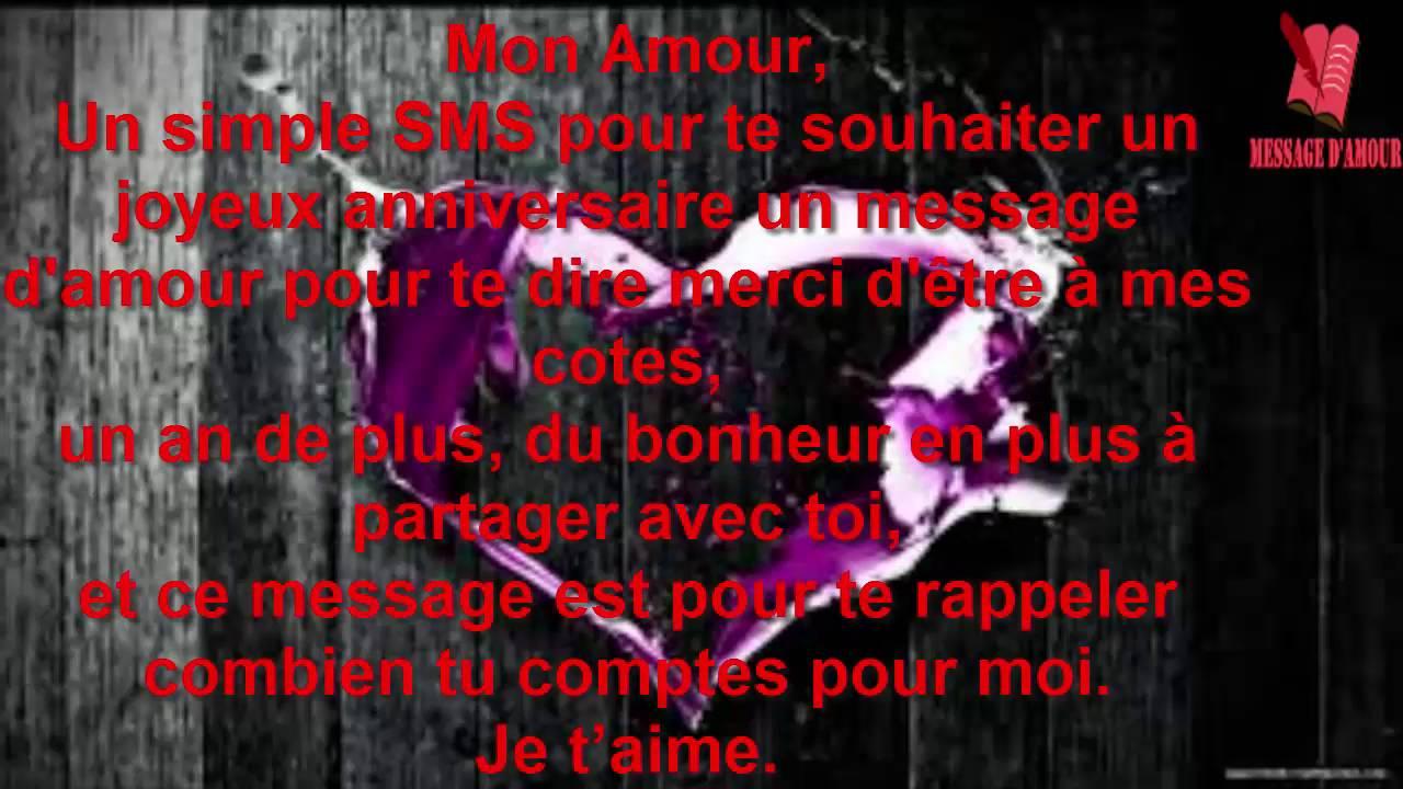 Textes D Anniversaire Romantiques Youtube