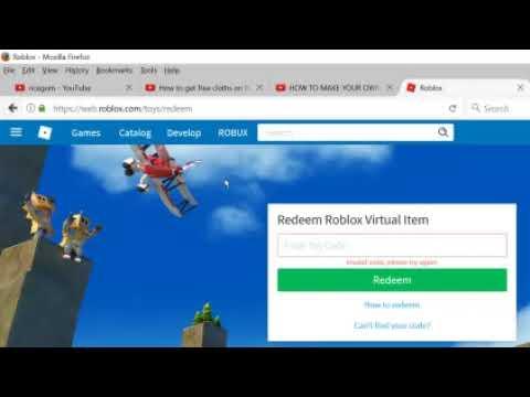 Three Redeem Roblox Codes - YouTube