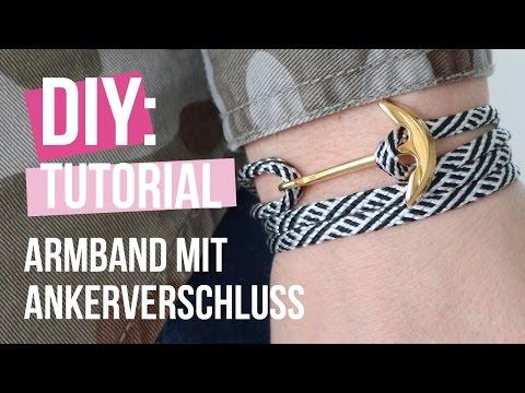 Schmuck machen: Navy style Armband mit Anker Verschluss aus DQ Metall ♡ DIY