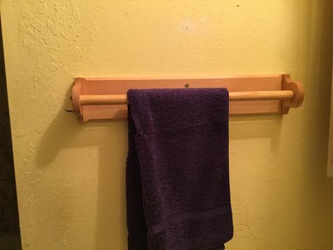 Hand Towel Rack from Reused Wood & $50 Dowel - 26