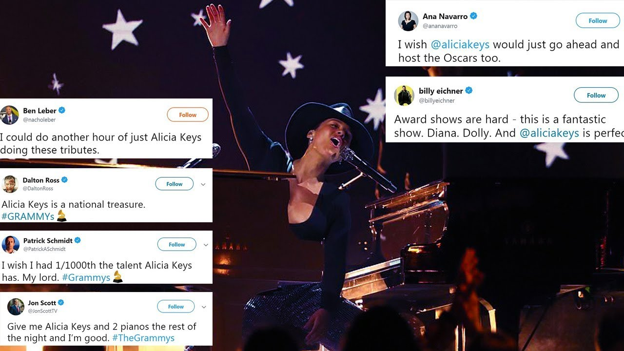 Download Grammys 2019: Alicia Keys plays incredible medley with two pianos