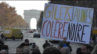 VIDEO Blocage des Gilets Jaunes à Paris le 17 novembre 2018 près des Champs-Elysées