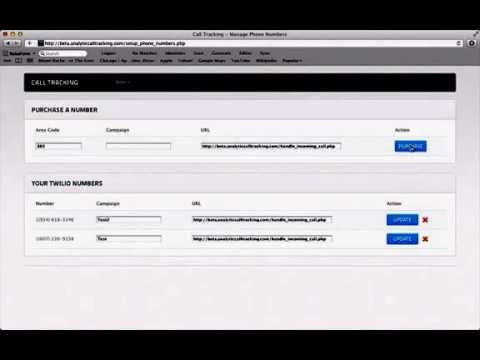 Analytic Call Tracking Number Demo | Track A Number