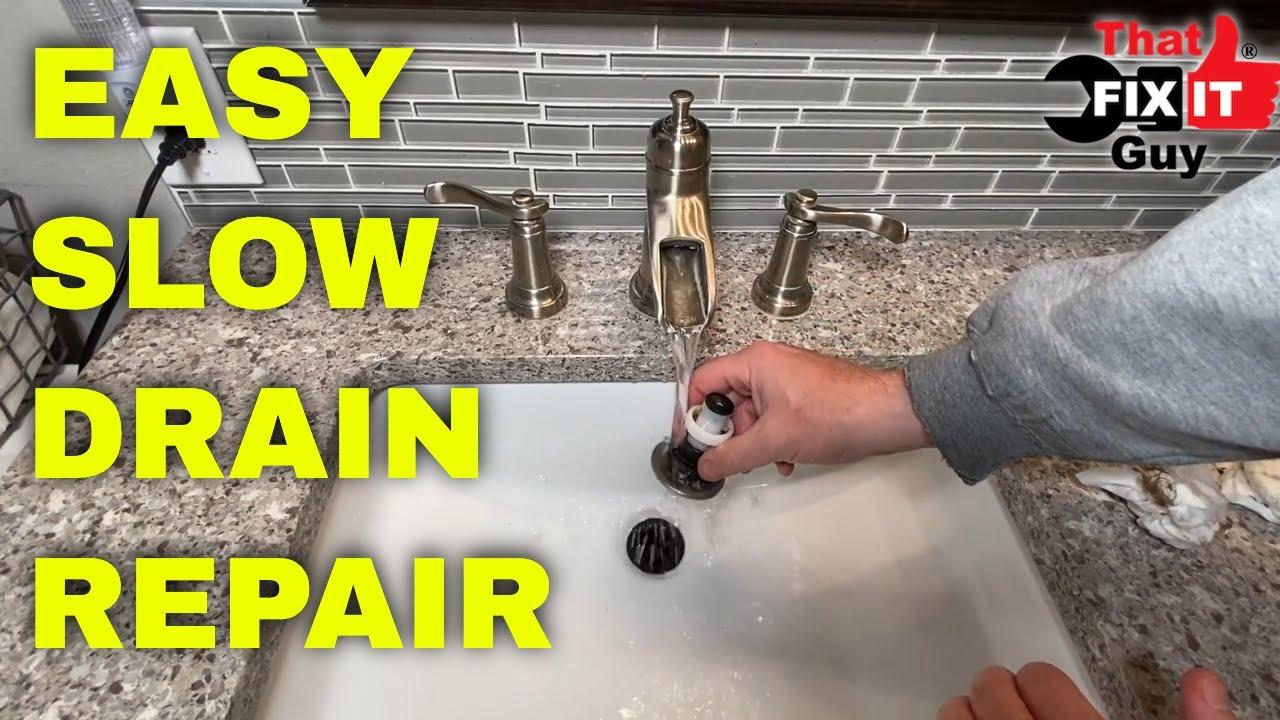 Slow Draining Bathroom Sink You, Slow Drain Bathroom Sink