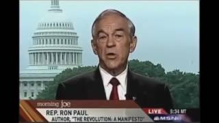 Ron Paul explains the Subprime mortgage crisis and predicts the dollar collapse