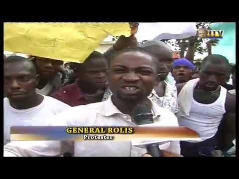 Niger Delta ex-militants protest in Benin