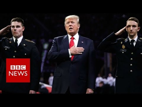 Did President Trump forget the words to the national anthem? - BBC News