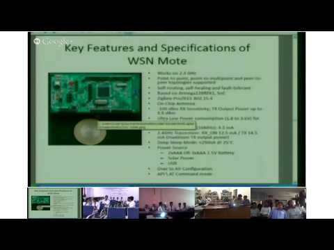 Introduction to wireless sensor networks by Mr. O.S Khanna on 16th september 2013