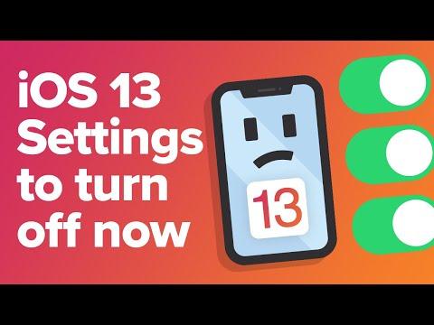TEN IOS 13 Settings To Turn Off Now
