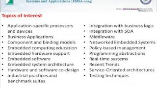 Third International Conference on Embedded Systems and Applications (EMSA-2014)