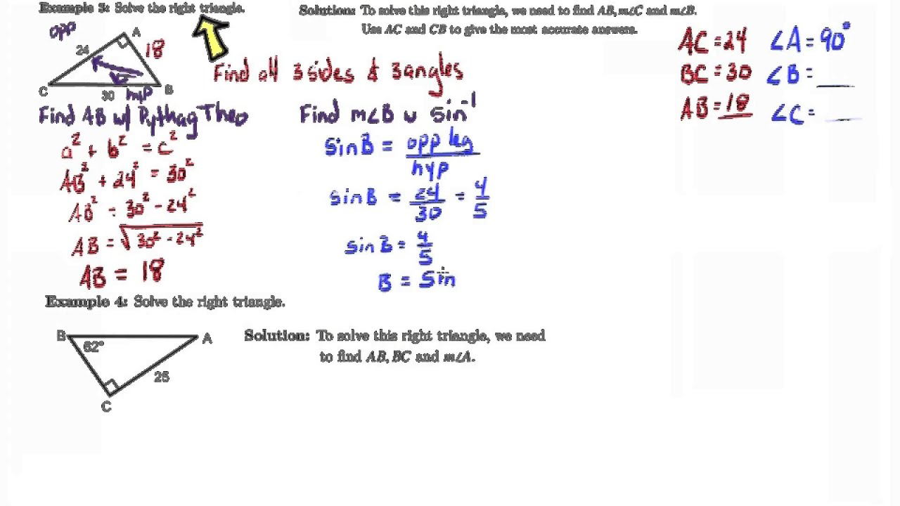worksheet Inverse Trigonometric Ratios 7 6 notes inverse trigonometric ratios youtube ratios