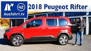 2018 Peugeot Rifter 1.2 L PureTech GT-Line - Kaufberatung, Test, Review