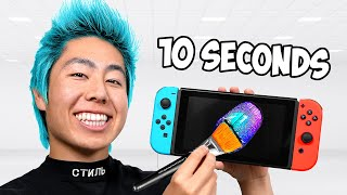 I Customized A Nintendo Switch In 10 Hours, 1 Hour, 10 Minutes, 1 Minute & 10 Seconds!