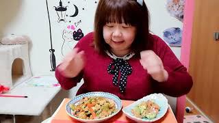 【料理、晩御飯】1月17日簡単市販のたれを使った野菜炒め&サラダ😋