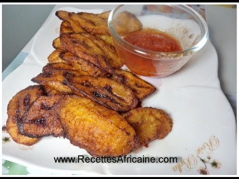 Fried plantains african food recipes youtube for Authentic african cuisine from ghana