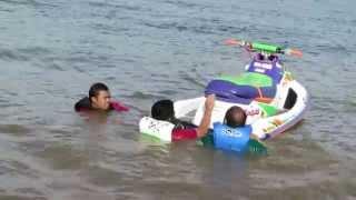 Deep Water Jetski Climb Up Practice