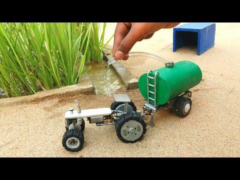 diy tractor water tanker machine science project || part 1 || @keepvilla