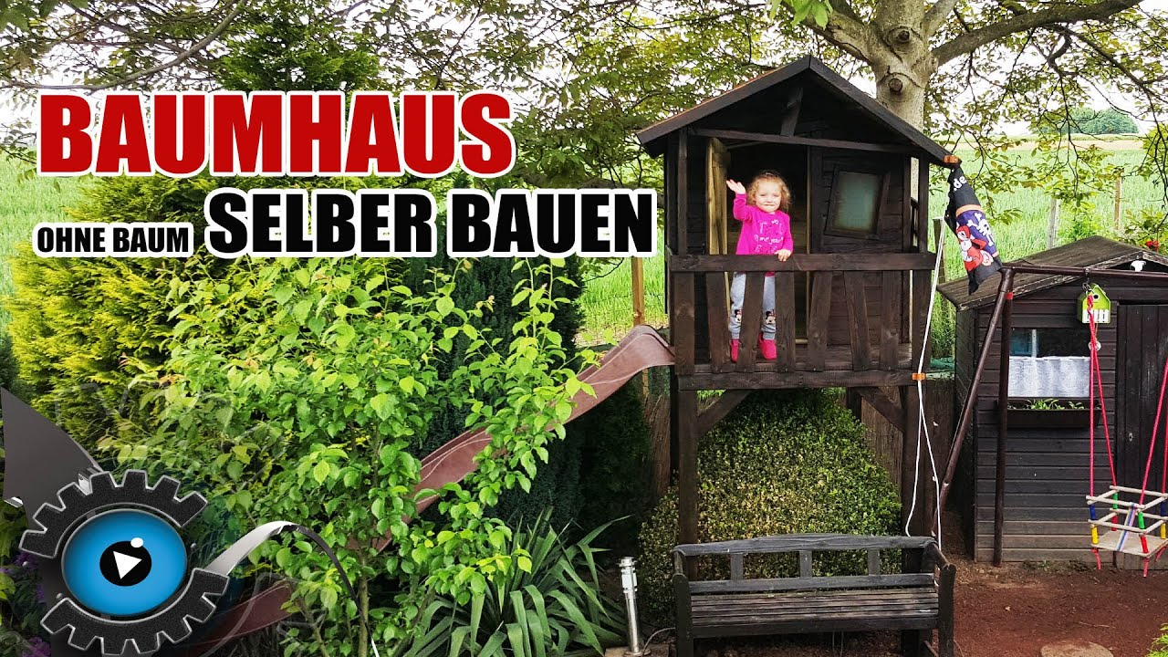 baumhaus selber bauen ohne einen baum stelzenhaus gartenpirat justin fun review youtube. Black Bedroom Furniture Sets. Home Design Ideas