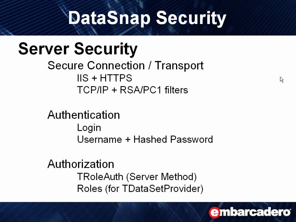 Datasnap In Action 2 Datasnap Server Security Youtube