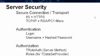 Datasnap In Action 2 - Datasnap Server Security