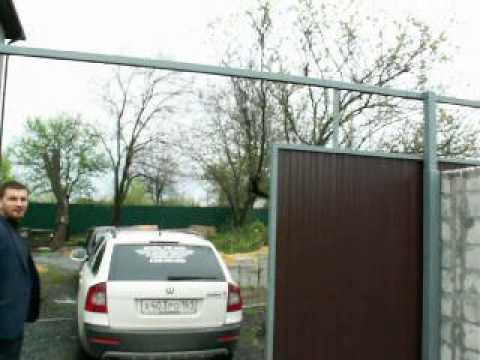 видео: откатные ворота по русски
