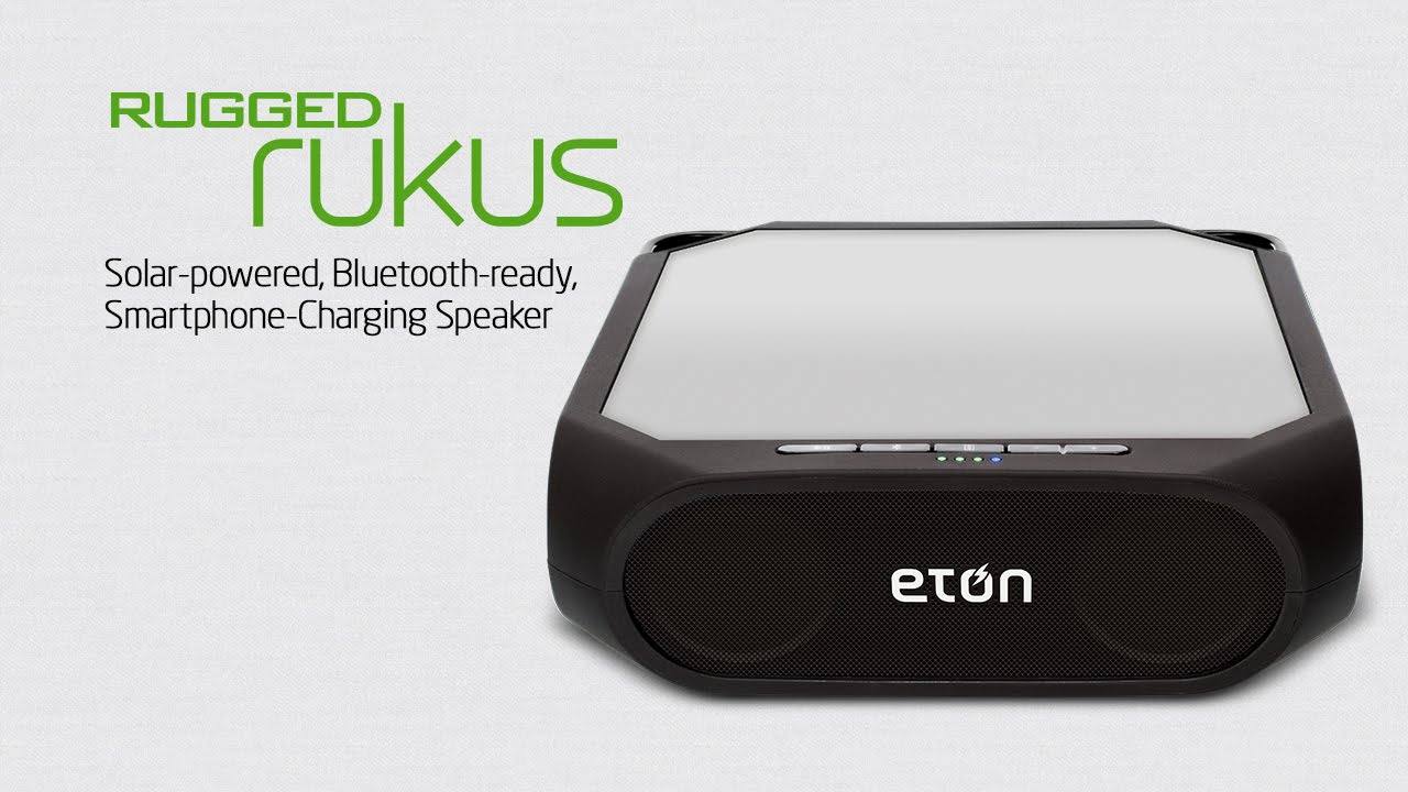 The Solar Ed Bluetooth Ready Smartphone Charging Speaker Rugged Rukus By Eton Corp You