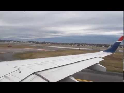 Logan Airport Departure with a Delay on US Airways E190