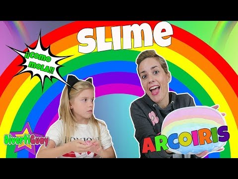 SLIME ARCOIRIS | Giant and  Mini RAINBOW SLIME!! DIY Slime Grande vs Pequeño