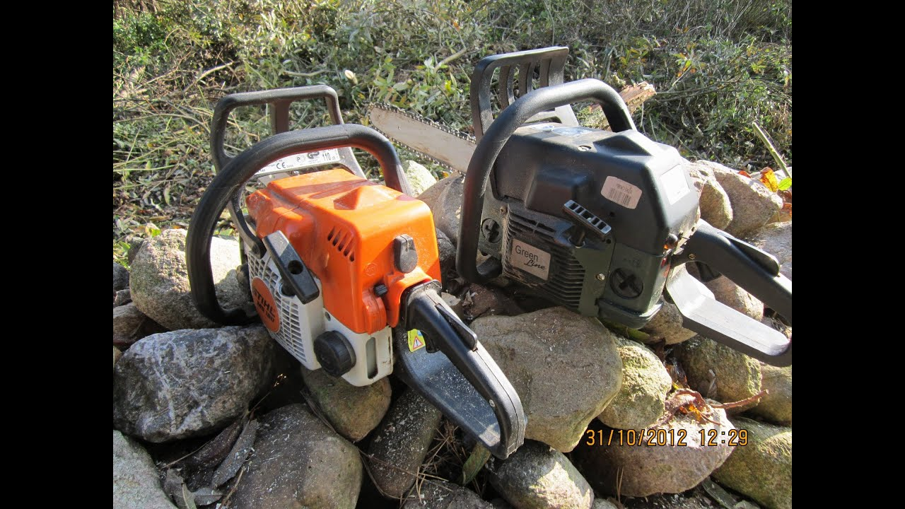 stihl ms 180 benzin motor kettens ge cut down a tree. Black Bedroom Furniture Sets. Home Design Ideas