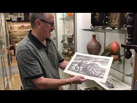 Thomas Hart Benton original signed lithograph