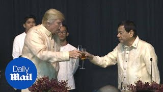 Trump meets Duterte at a dinner before ASEAN meeting in November - Daily Mail