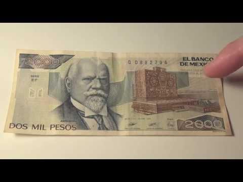 1989 El Banco De Mexico Dos Mil Pesos