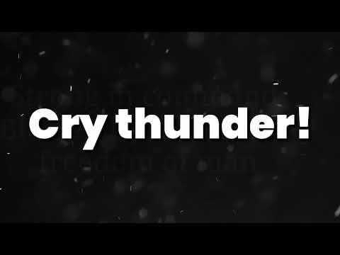 DragonForce - Cry Thunder (Lyric Video)