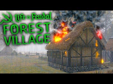 Life is Feudal Forest Village - Natural Disaster Fires! - Building a Port - Forest Village Gameplay