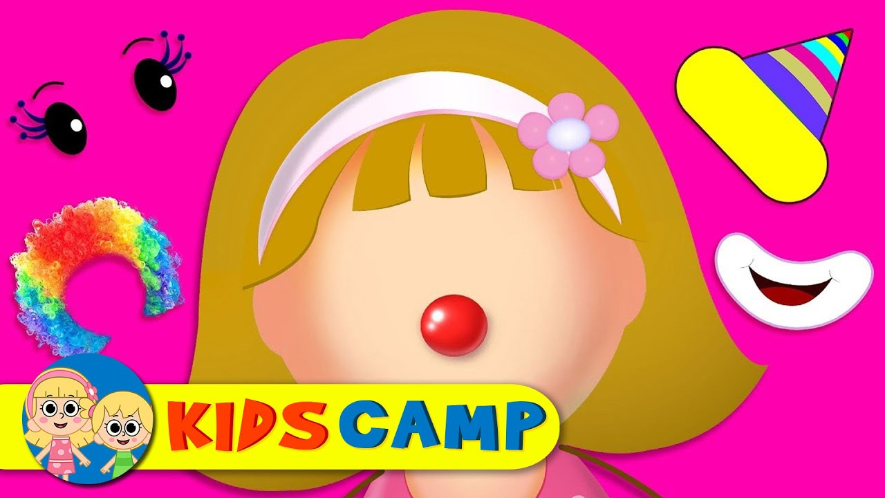 Download Let's Make a Silly Funny Clown Face With Elly Finger Family Song by KidsCamp