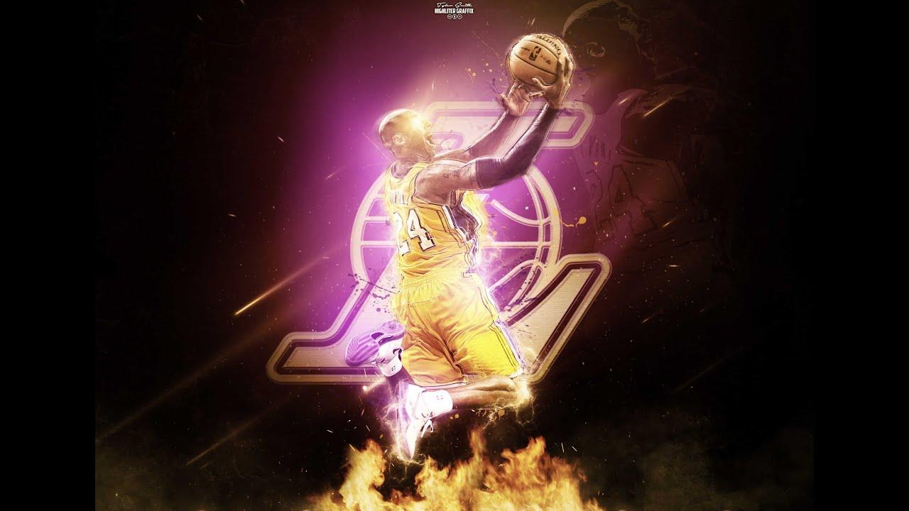 a77bf93a950c Kobe Bryant Photoshop Speed Art - YouTube