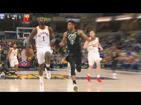 Lance Stephenson AMAZING No-Look Pass After Steal | Bucks vs Pacers